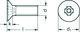 M4 x 60 PHILLIPS CSK Z & C DIN965 4.8 M/SCREW 2208404060