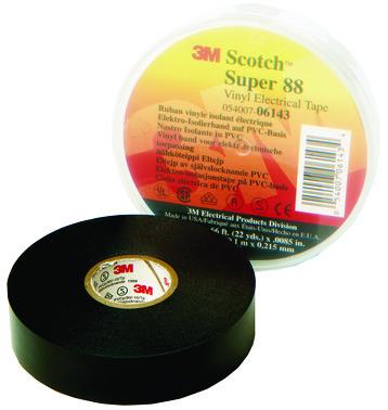 Tape 88 25mm x 20m sort 7000058250