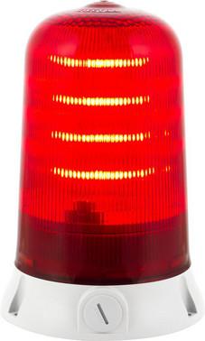 Roterende lampe med LED og multifunktion 24V Rød 90063