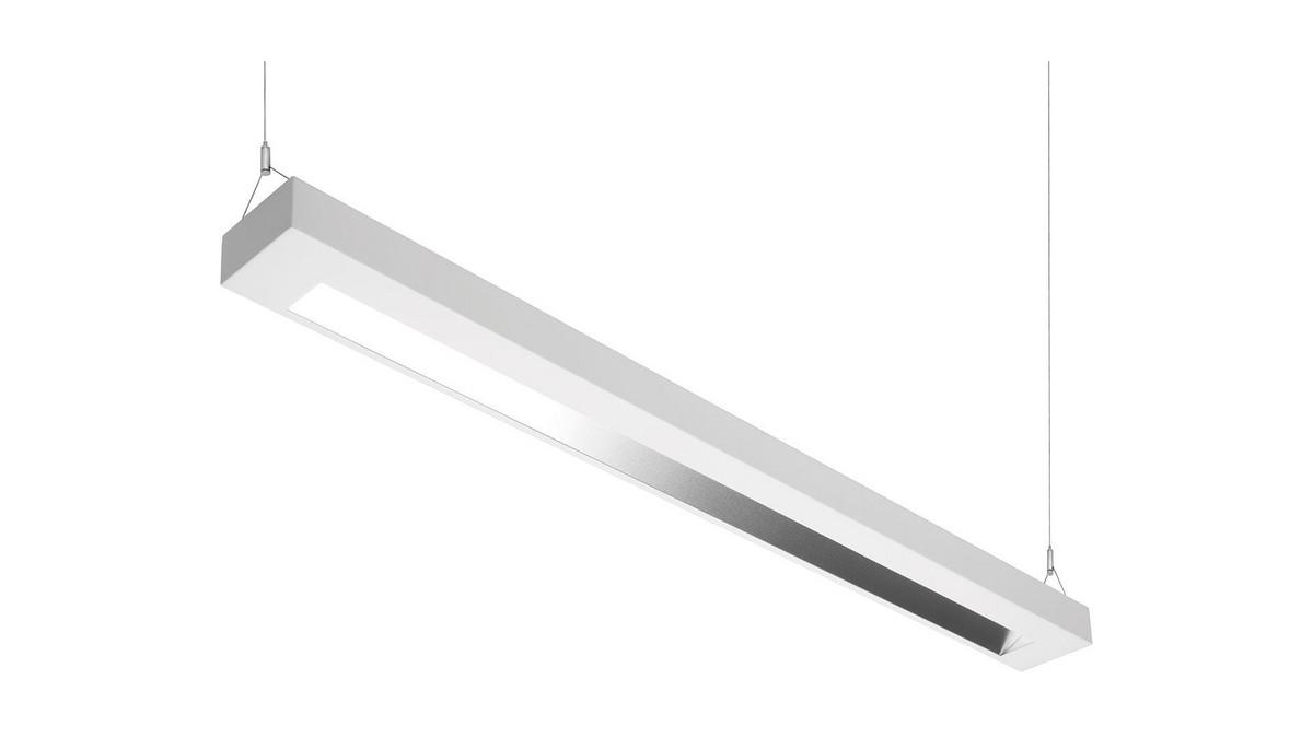 Lambda Asym OMS 2250lm/20W/840 LED Dali 1300 mm nedhængt blank asym reflektor hvid