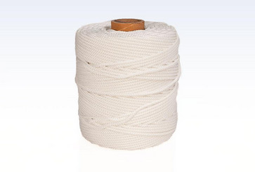 Polyamide Nylon 8- braided ropeswithout core - white coloured1,0 mm x 330 meter 301035