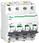 Acti9 iC60N 3P-N 6A  Dobbelt terminal B-karakteristik 6/10kA 230V Bredde 72mm A9F03706 miniature
