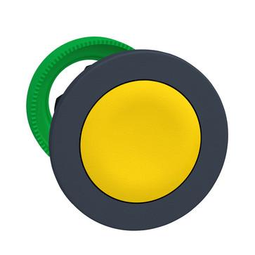 Harmony flush trykknapshoved i plast med fjeder-retur og plan trykflade i gul farve ZB5FA5