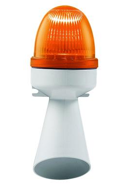 Horn med lys 240V AC BA15D 10W Orange, 314.4.240 40422