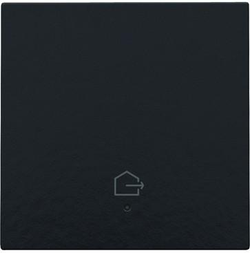"""Tangent med LED, med """"forlad hjem"""" symbol, Bakelite® piano black coated 200-32902"""