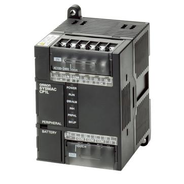 PLC, 24VDC forsyning, 6x24VDC input, 4xrelæudgange 2A, 5K trin program + 10K-ord datalager CP1L-L10DR-D 668679