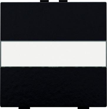 Tangent med tekstfelt til 2-tryk, Bakelite® piano black coated 200-00006