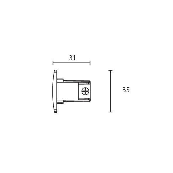 Shopline trac endestykke 3-fase mat-hvid