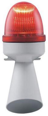 Horn med lys 24V DC BA15D 10W Rød, 314.3 40643