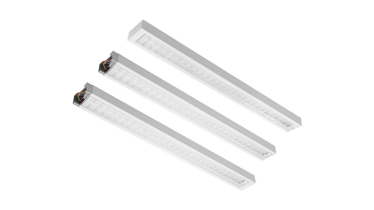 Modul LMD Line Start OMS 5450lm/41W/830 LED Fix 1534 mm nedhængt/påbyg dobbeltparabolsk gitter