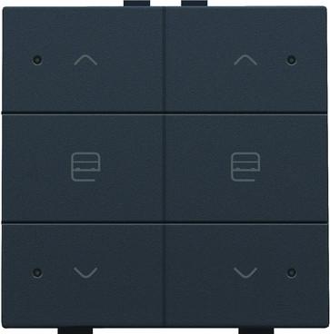 Motortryk dobbelt med LED, anthracite, NHC 122-52036
