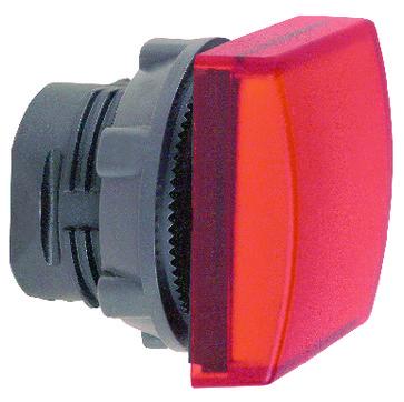 Harmony signallampehoved i plast for LED med firkantet linse i rød farve ZB5CV043