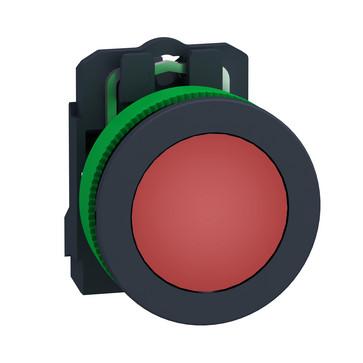 Harmony flush signallampe komplet med LED i rød farve og 24VAC/DC forsyning XB5FVB4