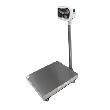 Gulvvægt 150 kg / inddeling 20 g med LED display og 560x458 mm vejeplade 18562425