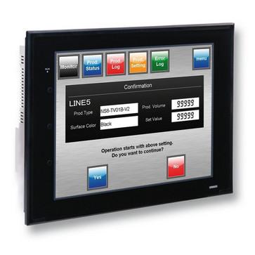 Touch screen HMI, 15 tommerxGA, TFT, 256 farver, 1024x768 pixels, 1xRS-232C & 1xRS422 porte, Ethernet (10/100 Base-T), 60MByte hukommelse, 24VDC, sort case NS15-TX01B-V2 304977