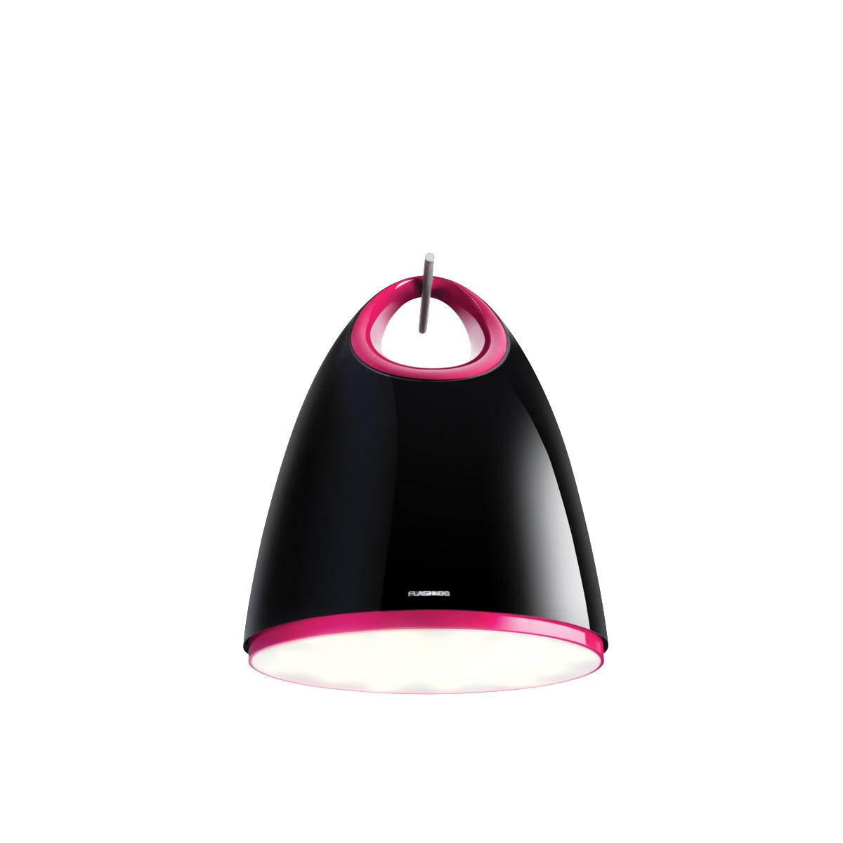 LUG HB886 12850lm/840 Dali IP20 nedhængt mikroprismatisk sort/lyserød