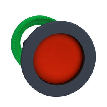 Harmony flush trykknapshoved i plast med fjeder-retur og undersænket trykflade i rød farve ZB5FA46