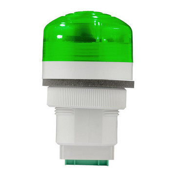 Advarselslampe med LED og multifunktion 12/24V Grøn, P40, A, LED, 24 91184