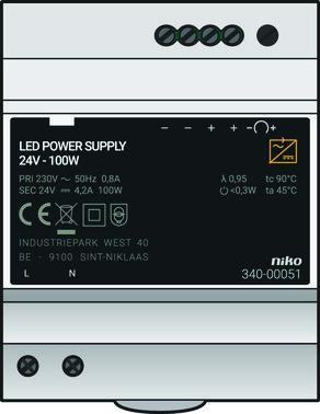 Modulær strømforsyning 24 Vdc, 100 W 340-00051