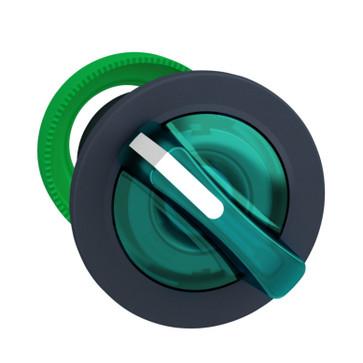 Harmony flush drejegreb i plast for LED med 2 faste positioner i grøn farve ZB5FK1233