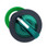 Harmony flush drejegreb i plast for LED med 2 faste positioner i grøn farve ZB5FK1233 miniature