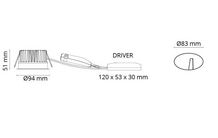 Soft Slim IsoSafe Hvid DimToWarm 550lm 2000-2800K Ra>95
