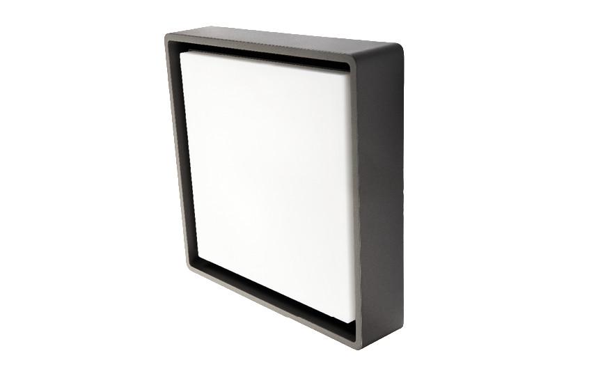 Frame Square Maxi Grafit LED 3000K Nødlys