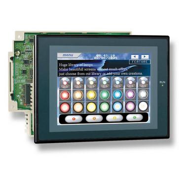 Touch screen HMI kontroller, 8,4 TFT skærm med 60 mB programhukommelse, 60K trin stigen program hukommelse, 128K-ord datalager, 3 ekspansion racksmAx, 1xUSB-port, 3xRS232 porte, Ethernet-port (10/100Base-T), DeviceNet mester, sort sag NSJ8-TV01B-G5D 224117
