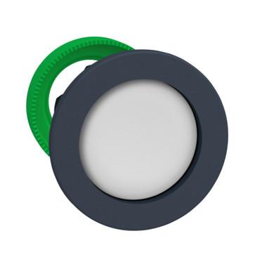 Harmony flush trykknapshoved i plast med fjeder-retur og undersænket trykflade i hvid farve ZB5FA16