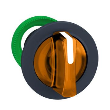 Harmony flush drejegreb i plast for LED med 3 faste positioner i orange farve ZB5FK1353