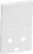 LK FUGA tangent og afdækning for stikkontakt med afbryder med DK-jord, 1½ modul, hvid 1017040120