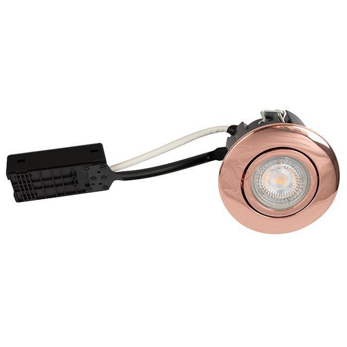 Luna Quick install 230V Dæmpbar flimmerfri GU10 5W 3000K 385lm IP44 Kobber Rund.