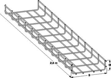 Gitterbakke rustfri 600mm (L=2,5M) 727R