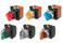 SelectorA22NW 22 dia., 2 position, tændte, bezel metal,mAnuel, farve rød, LED rød, 1NO1NC, 24VDC A22NW-2RM-TRA-G102-RC 664627 miniature