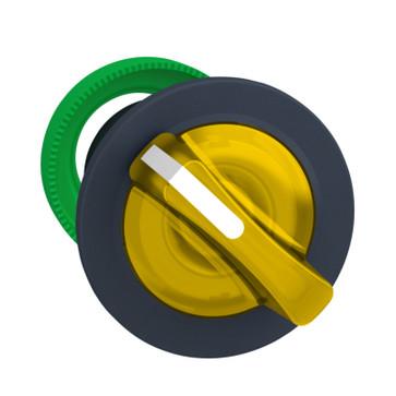 Harmony flush drejegreb i plast for LED med 2 faste positioner i gul farve ZB5FK1283