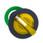 Harmony flush drejegreb i plast for LED med 2 faste positioner i gul farve ZB5FK1283 miniature