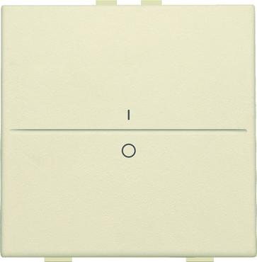 Tangent med IO symbol til 2-tryk, cream 100-00002