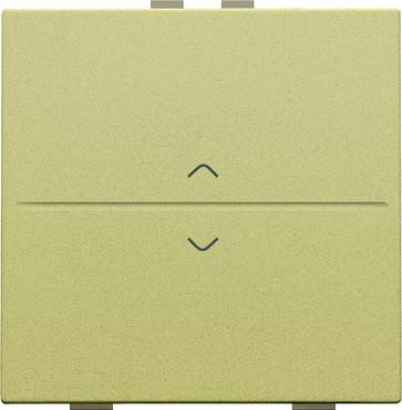 Tangent med pil symboler til 2-tryk, gold coated 221-00004