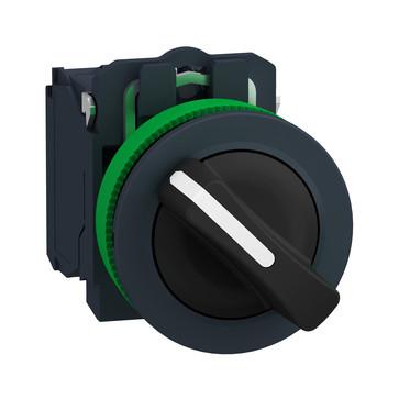 Harmony flush drejeafbryder komplet med 2 faste positioner 1xNO+1xNC, XB5FD25 XB5FD25