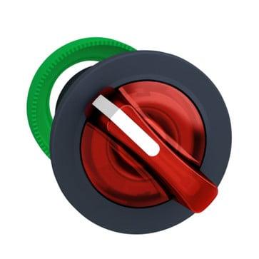 Harmony flush drejegreb i plast for LED med 2 faste positioner i rød farve ZB5FK1243