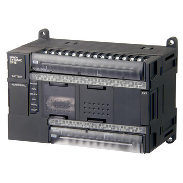 PLC, 100-240 VAC forsyning, 24x24VDC indgange, 16xPNP udgange 0,3A, 8K trin program + 8K-ord datalager, RS-232C port CP1E-N40DT1-A 298936