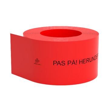 Kabelafdæk rød 350x3 mm i rl á 25 mtr 10610