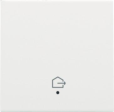 """Tangent med LED, med """"forlad hjem"""" symbol, white coated 154-32902"""