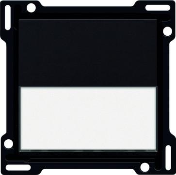 Tangent, enkelt, med tekstfelt, piano black coated 200-60905