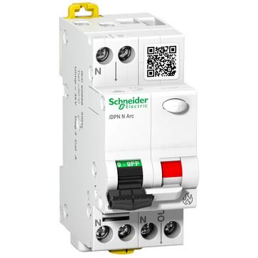 Kombiafbryder iDPNN Arc er automatsikring med integreret gnistdetektor 1P+N 16A, B-karakteristik, brydeevne 6kA, 230V AC, 36mm bred A9FDB7616