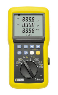 CA 8220 energy analyzer with MN93A, 5mA120A current clamps 5706445290529