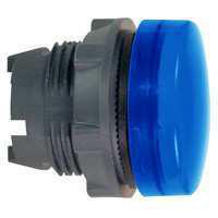 Harmony signallampehoved i plast for BA9s med linse i blå farve ZB5AV06