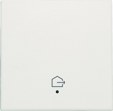 """Tangent med LED, med """"forlad hjem"""" symbol, white 101-32902"""