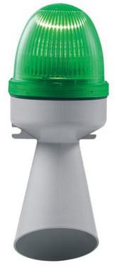 Horn med lys 240V AC BA15D 10W Grøn, 314.4.240 40704