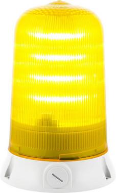 Roterende lampe med LED og multifunktion 24V Gul 90065